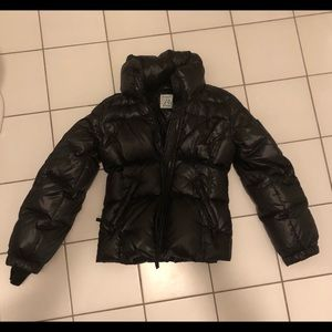SAM girls puffer jacket in jet black